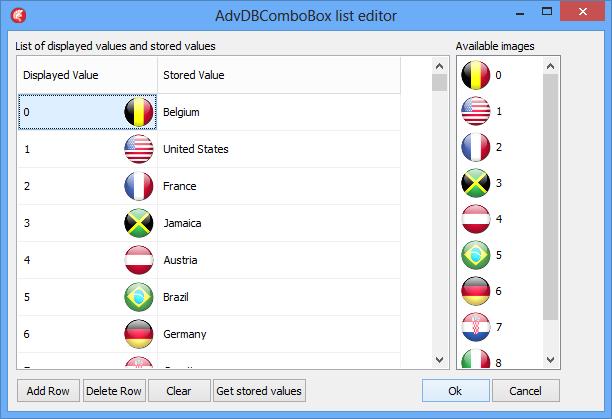 TAdvDBComboBox editor