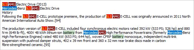 highlight label