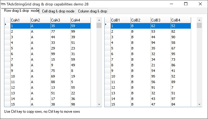 vcl grid drag and drop