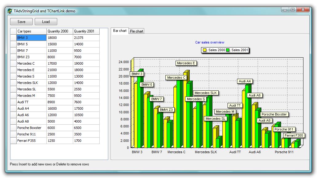TMS Software TAdvStringGrid Example