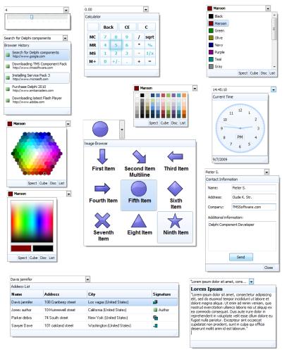 New: TMS Advanced DropDown Controls v1.5.0.0