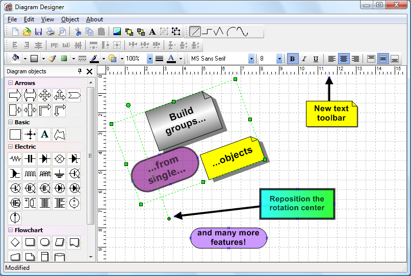 TMS Diagram Studio Screen shot