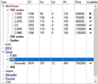 vcl html treelist