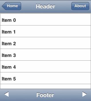 iPhoneHeader & iPhoneFooter