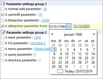TMS Parameter Controls