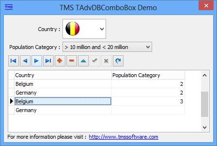 TAdvDBComboBox