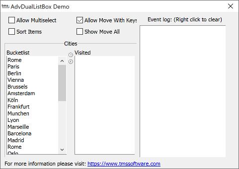 Delphi component VCL list box