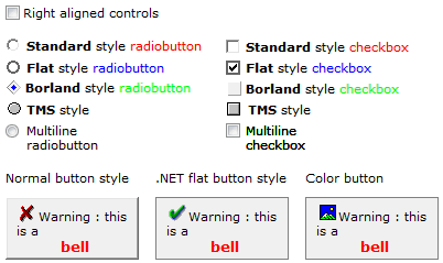 vcl html buttons