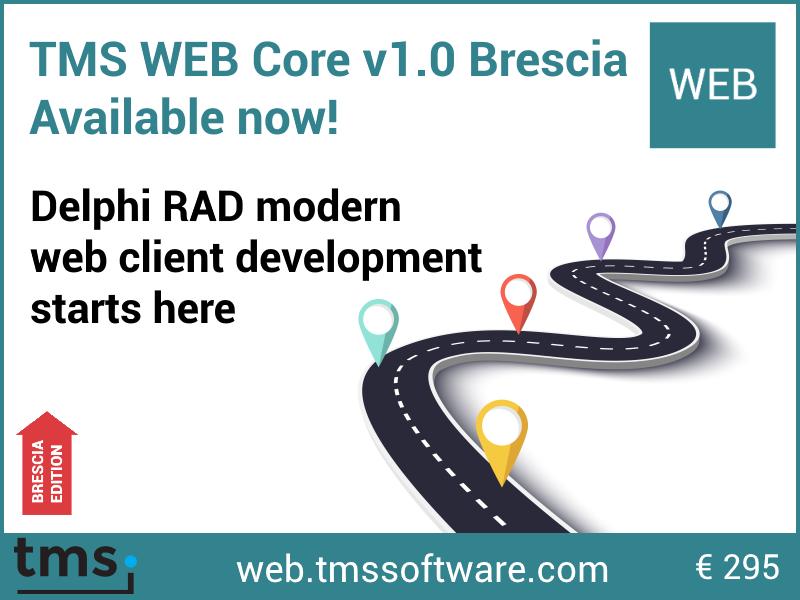 TMS Software | Blog | TMS WEB Core v1 0 Brescia is released