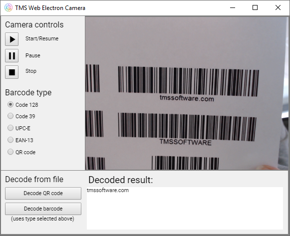 TMS Software | Blog | Access the camera with TMS WEB Core 1.2 Padua