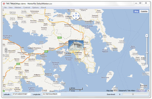 Click to view TMS TWebGMaps screenshots